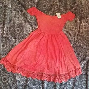 Orange asos dress